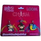 GIRLIE GIRLZ Single Side Charm for Loom Band [TM 3216] - Craft